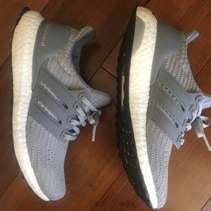 Grey Adidas Ultra Boosts
